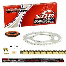 XAM SILENT Kettensatz GOLD Suzuki GSX-R 1000 K3 K4 BZ WVBZ 03-04 verstärkt, GSXR