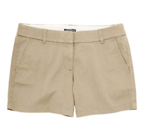 "J. Crew - Women's - 5"" Chino Shorts Size 2 British Khaki travel casual vacation"