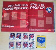 Panini World Cup Russia 2018 MCDONALDS STICKERS - Danish ALBUM + DENMARK (M1-M8)