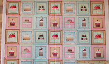 "Sugar Sweet Truffles Cup Cake Pie Dessert SPX Fabric Squares 23""  #25493"