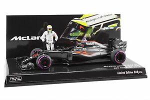 Minichamps 1/43 Jenson Button McLaren Honda MP4-31 2016 Abu Dhabi + Figure