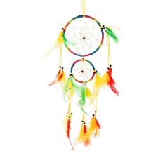 """18"""" Traditional Rainbow Dream Catcher with Feathers Wall or Car Hanging Ornam..."""