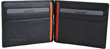 "VISCONTI Leather Mens Bifold ""Bond"" Money Clip / Credit Card Wallet - BD18"
