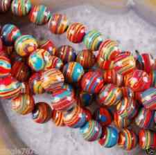10mm  red Multicolor Round Gems Turkey Turquoise Loose 15''