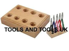 Quality 4 Hole Wooden Stand for Pliers Rack Jewelers Bench Tool Holder Organizer