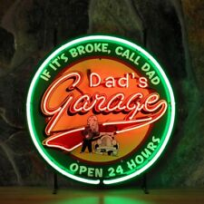 New DAD'S GARAGE 50's American Style Retro Neon Diner Sign For Hanging Standing