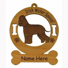 Irish Water Spaniel Standing Dog Ornament Personalized With Your Dogs Name 3398