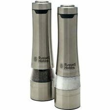 Electric Salt and Pepper Mills Set Grinder Shakers Battery Operated AU FAST SHIP