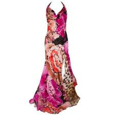 Gianni VERSACE Couture Floral Leopard Print Silk Evening Gown Dress