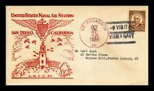 US COVER NAVAL AIR STATION SAN DIEGO CALIFORNIA THERMOGRAPHED CACHET