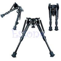 "Adjustable 6"" to 9"" Legs Sniper Hunting Rifle Bipod Sling Swivel Holder Mount"