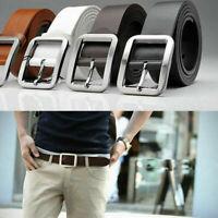 Men's Genuine Leather Casual Dress Belt Pin Buckle Waist Strap Belts Waistband #