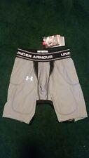 Under Armour HeatGear Youth Xl 6-Pocket Football Girdle Grey Compression