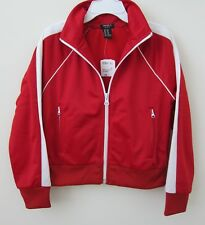 Forever 21 Kid Girl 5/6 Red Zip Pocket Long Sleeves Active Sport Casual Jacket