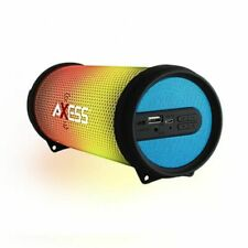AXESS PERSONAL LED BLUETOOTH PORTABLE SPEAKER W/AM-FM RADIO, USB, AUX AND