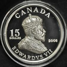2008 Canada $15 Sterling Silver Coin - King Edward VII