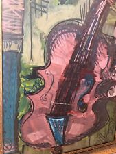 👀 Cubism Cubist Abstract Violin Painting - Ivan Jenson, Keith Haring, Braque