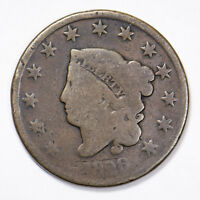 1826 CORONET HEAD 1c LARGE CENT Lot#B146