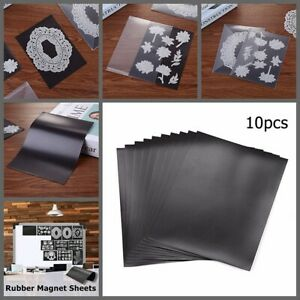 10 Pcs/set 7X5Inch 0.3Mm Thick Rubber Soft Magnet Sheet for Cutting Dies Storage