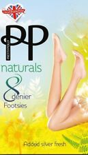 Pretty Polly Footsies Footlets shoe liners Laser Cut & Antibacterial Silver