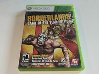 BORDERLANDS: GAME OF THE YEAR EDITION Microsoft XBOX 360 Video Game *COMPLETE*