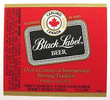 G Heileman Brg CARLING CANADA BLACK LABEL BEER label WI 12oz  #5576