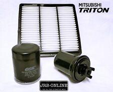 MITSUBISHI TRITON MK 2.4L 4g64 PETROL 2WD OIL AIR FUEL FILTER service KIT 96-06