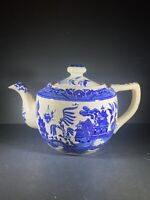 "House Of Blue Willow 1899 Porcelain Made In Japan TEAPOT 6 1/2"" Cobalt"