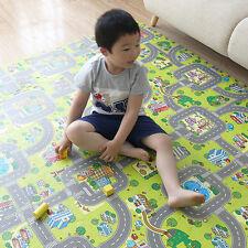 9tlg Spielmatte Spielteppich Puzzlematte Verkehr Schutzmatte Kinderteppich Matte