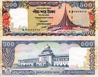 BANGLADESH 500 Taka Banknote World aUNC Currency Money BILL Asia p34 1998 Note