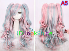 Lolita curly Split type Lori Girl With Ponytails Cosplay Wig - 15 Style NO:L113