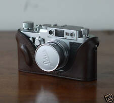 Mr.Zhou Brown Leather Half Case for Leica Screw Mount IIIg IIIf IIIc IIIa Camera
