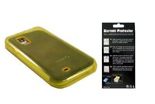 Screen Protector + EP Yllw TPU Cover Case for Samsung Galaxy S Showcase SCH-i500