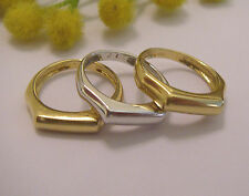 TRIS DI ANELLI IN ORO GIALLO / BIANCO 18KT - N.3 18KT SOLID GOLD RINGS