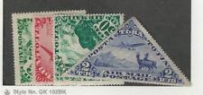Tannu Tuva, Postage Stamp, #C2, C4, C6, C9 Mint Hinged, 1934 Animal, Airplane