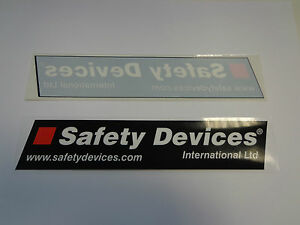 Safety Devices Window Stickers x 2 - GENUINE ARTICLE