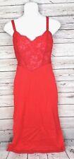 Komar Vintage Lingerie Night Gown Sleepwear Average 36 Usa Nylon Red