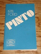 Original 1978 Ford Pinto Owners Operators Manual 78