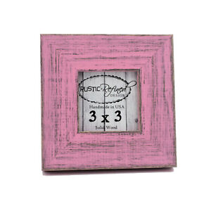 Square Picture Frame Country Colors Pink Solid Hardwood Gallery wall home decor