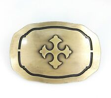 Classic Vintage Gold Alloy Knights Templar Cross Womens Mens Belt Buckle