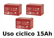 KIT BATTERIE 36V 15Ah GEL/AGM CICLICHE DEEP-CYCLE BICI ELETTRICA CSB