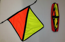 Sign Transport Vehicle Oversize Warning Safety Flags Pack of 4