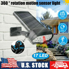 Adjustable Outdoor Security 17Led Solar Street Spotlights Sensor Wall Lamp Usa