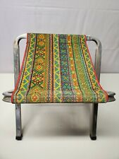 Vintage Aluminum Folding Camping Fishing Outdoor Stool-Chair-Hunting-Retro