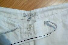 Laura Ashley white linen wide leg trousers size 18