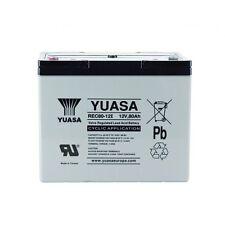 Batterie décharge lente Camping car bateau Yuasa 12V 80AH REC80-12 259X168X212MM