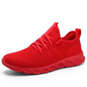 Womens Running Shoes Sport Comfortable Lightweight Mesh Walking Slip-On Sneakers