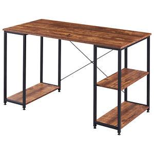 MDF Computertisch Schreibtisch Bürotisch Eckschreibtisch Arbeitstisch mit Regal