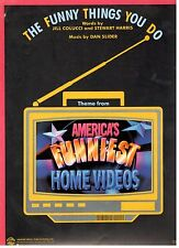 THE FUNNY THINGS YOU DO-FROM AMERICA'S FUNNIEST HOME VIDEOS SHEET MUSIC-NEW-RARE