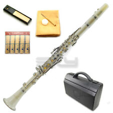 New High Quality Bb White Clarinet Package Nickle Silver Keys German Style